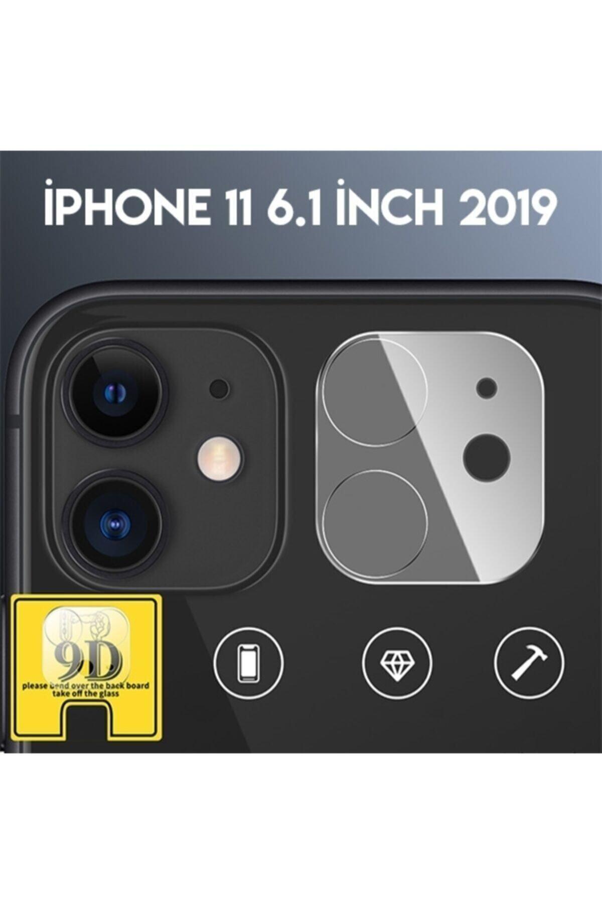 Ally Mobile Iphone 11 6.1inch 2019 Full Tempered Kamera Koruyucu Kırılmaz Cam - Şeffaf 1