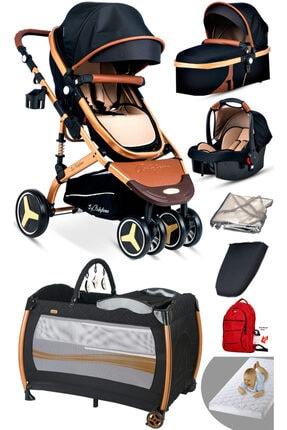 Baby Home 8'in1 Yeni Doğan Set 945 Travel Sistem Bebek Arabası Ve 600 Oyun Parkı Beşik Park Yatak