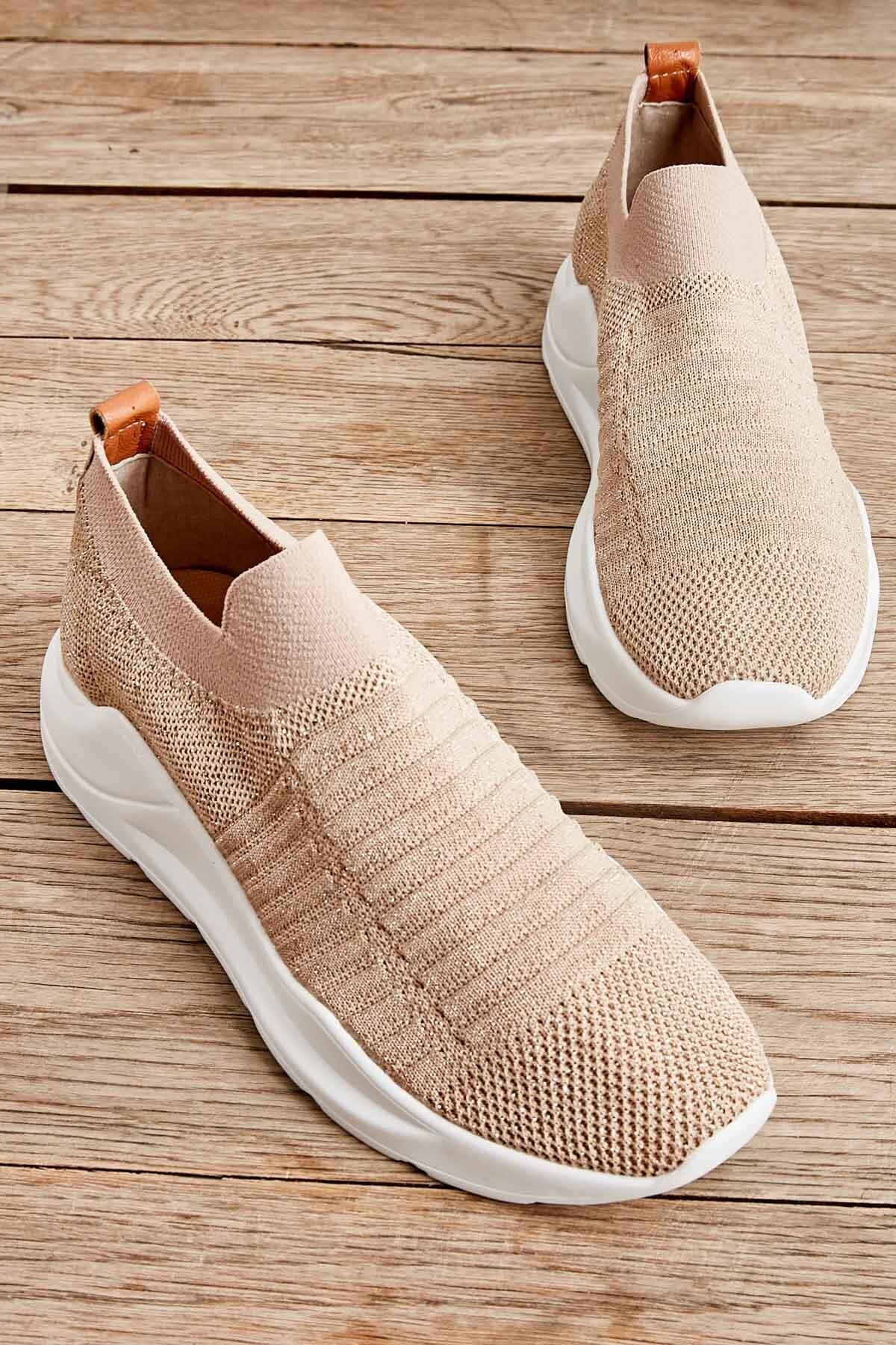 Bambi Bej Kadın Sneaker K01673050582 1