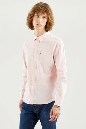Levi's Erkek Sunset 1 Pkt Slim Powder Pink Koyu Mavi Erkek Gömlek 8661900490