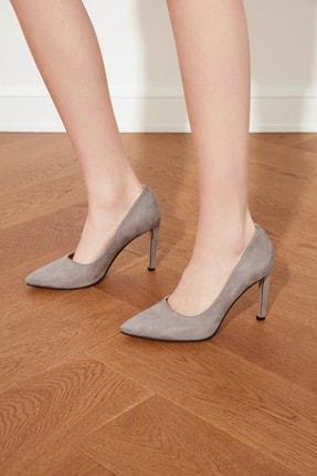 TRENDYOLMİLLA Gri Kadın Klasik Topuklu Ayakkabı TAKSS21TO0076