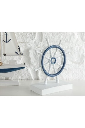 English Home Mariner Mdf Dekoratif Obje 13*7*17 Cm Beyaz