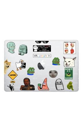 Katze Stickers Internet Temalı Laptop Notebook Tablet Sticker Seti 18 Adet