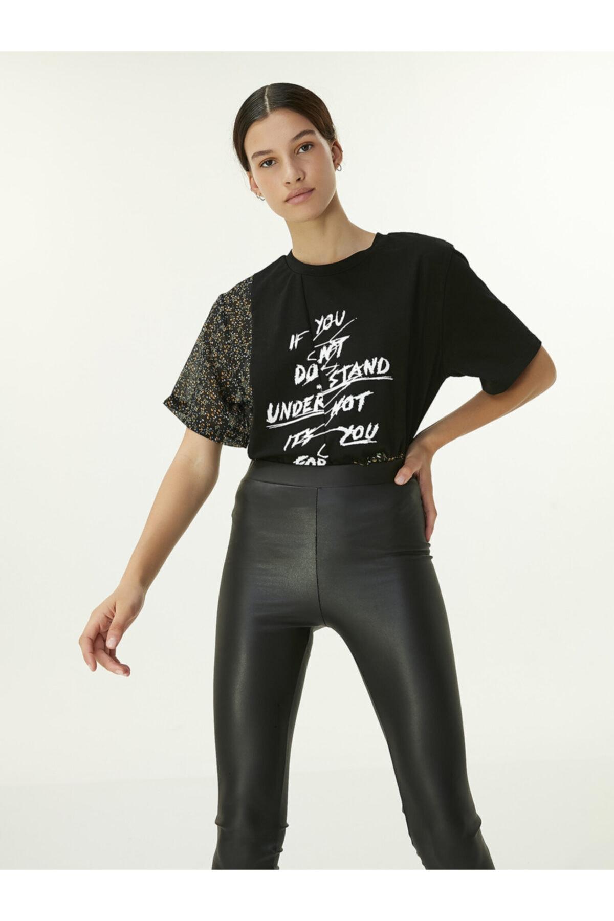 Twist Slogan Baskılı T-shirt 2