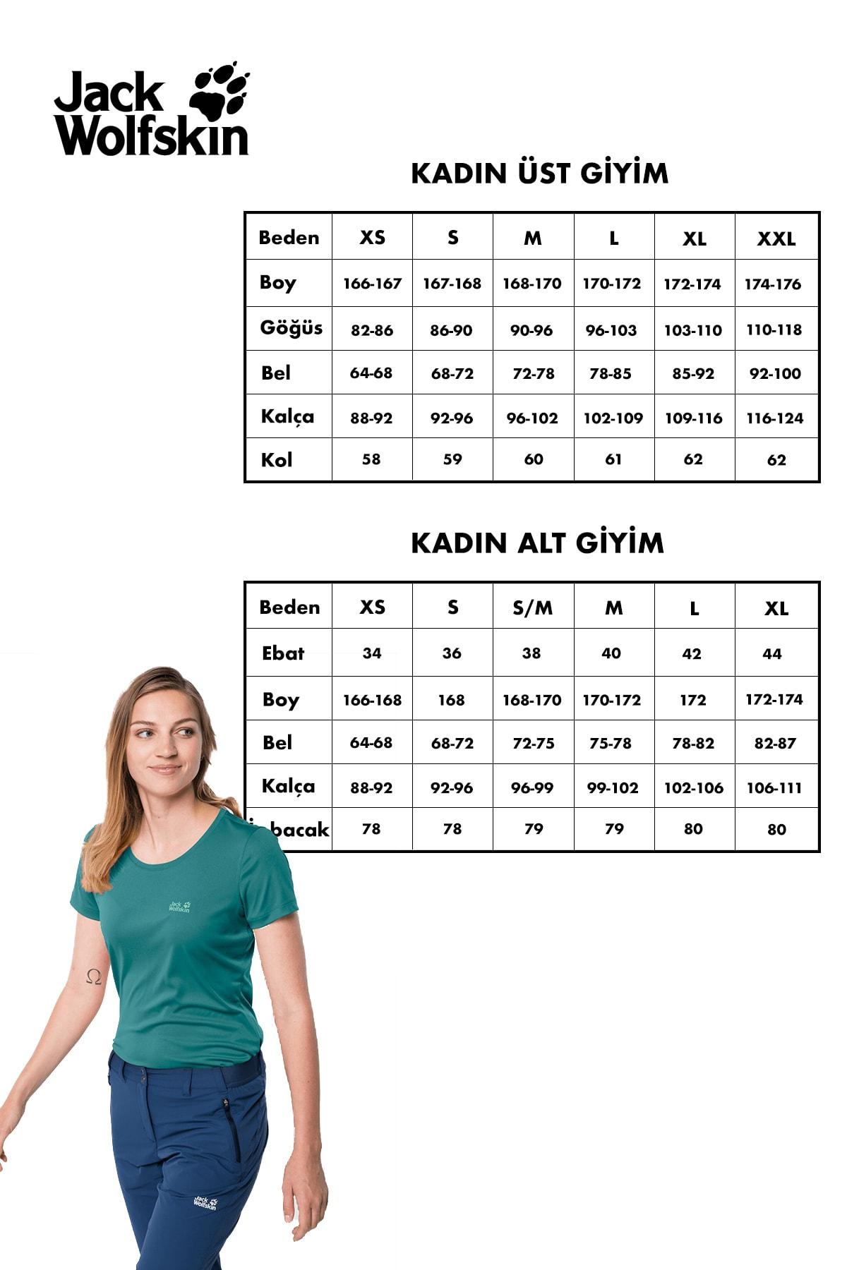 Jack Wolfskin Rock Chill Logo Kadın T-Shirt - 1805541-2058 2