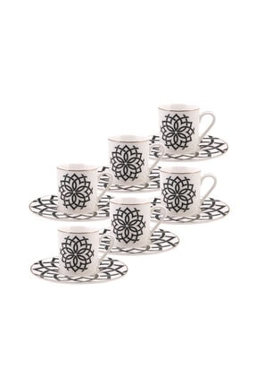 Emsan Yıldız 6 Kişilik Kahve Fincan Seti