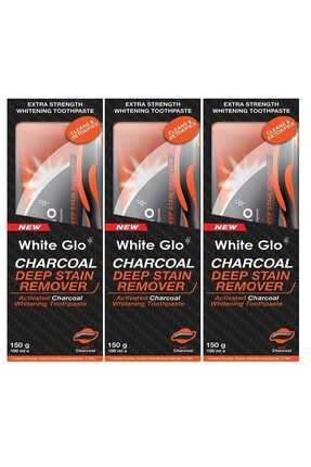 White Glo Aktif Karbon Kömürlü Beyazlatıcı Diş Macunu Avantaj Paket X3 Adet