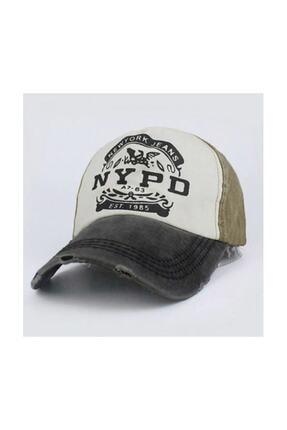 3D Nypd Şapka Cap Şapka Eskitme Tasarım 2019 Model Yeşil