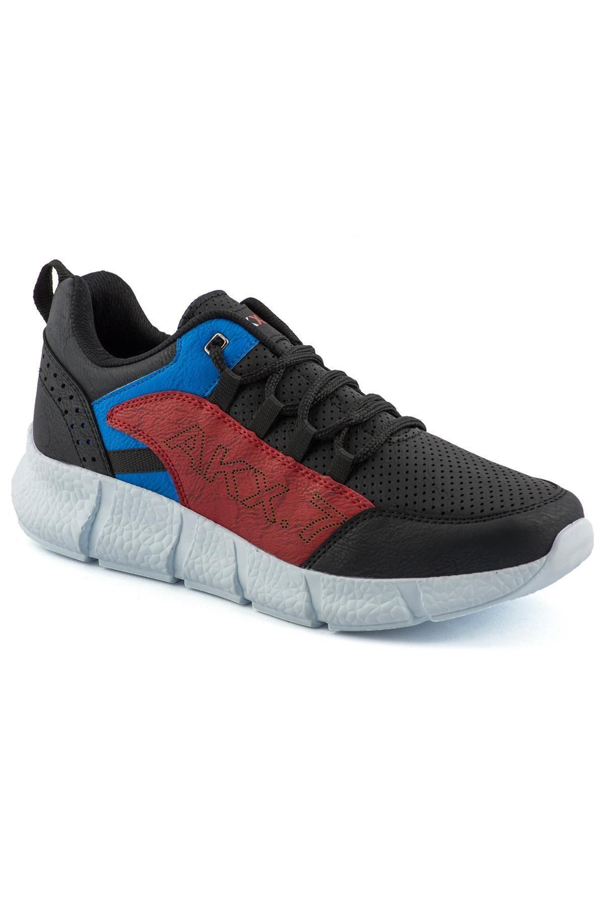 L.A Polo 021 Siyah Mavi Beyaz Erkek Spor Ayakkabı 1