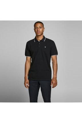 Jack & Jones Erkek Siyah Axel Bla  Polo Tshirt 12170949-b