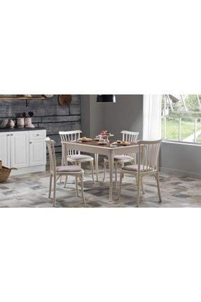 Bellona Bej Mdf Açılır Mutfak Masa Sandalye Takımı