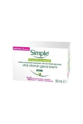 Simple Vital Vitamin Gece Kremi 50 Ml