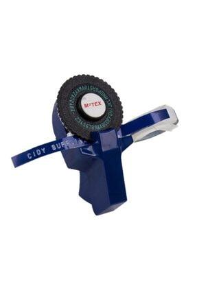 Motex Kabartma Yazı Yazma Ve Etiketleme Makinası + Şerit 9mm*2metre (mavi)