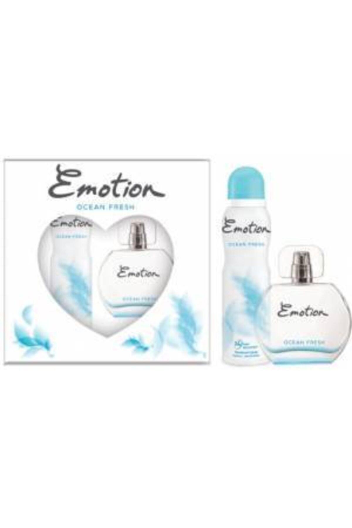 Emotion Ocean Fresh Bayan Edt 50 Ml + 150 Ml Deodorant Parfüm Seti 1