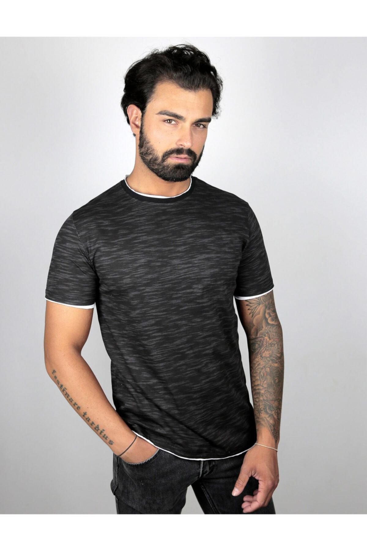 Millionaire Erkek Siyah Baskılı T-Shirt 1