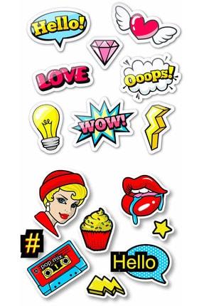 TUGİBU Laptop Notebook Nasa Sticker Etiket Seti