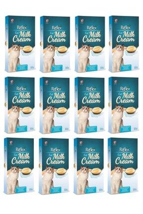 Reflex Milk Cream Süt Kremalı Sıvı Kedi Ödülü 8 X 10 Gr X 12 Paket
