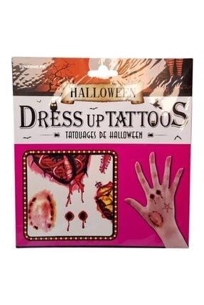 Pi İthalat Halloween Geçici Dövme Zombi Isırık Model