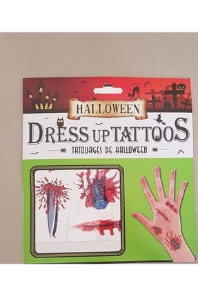 Pi İthalat Halloween Geçici Dövme Vidalı Model