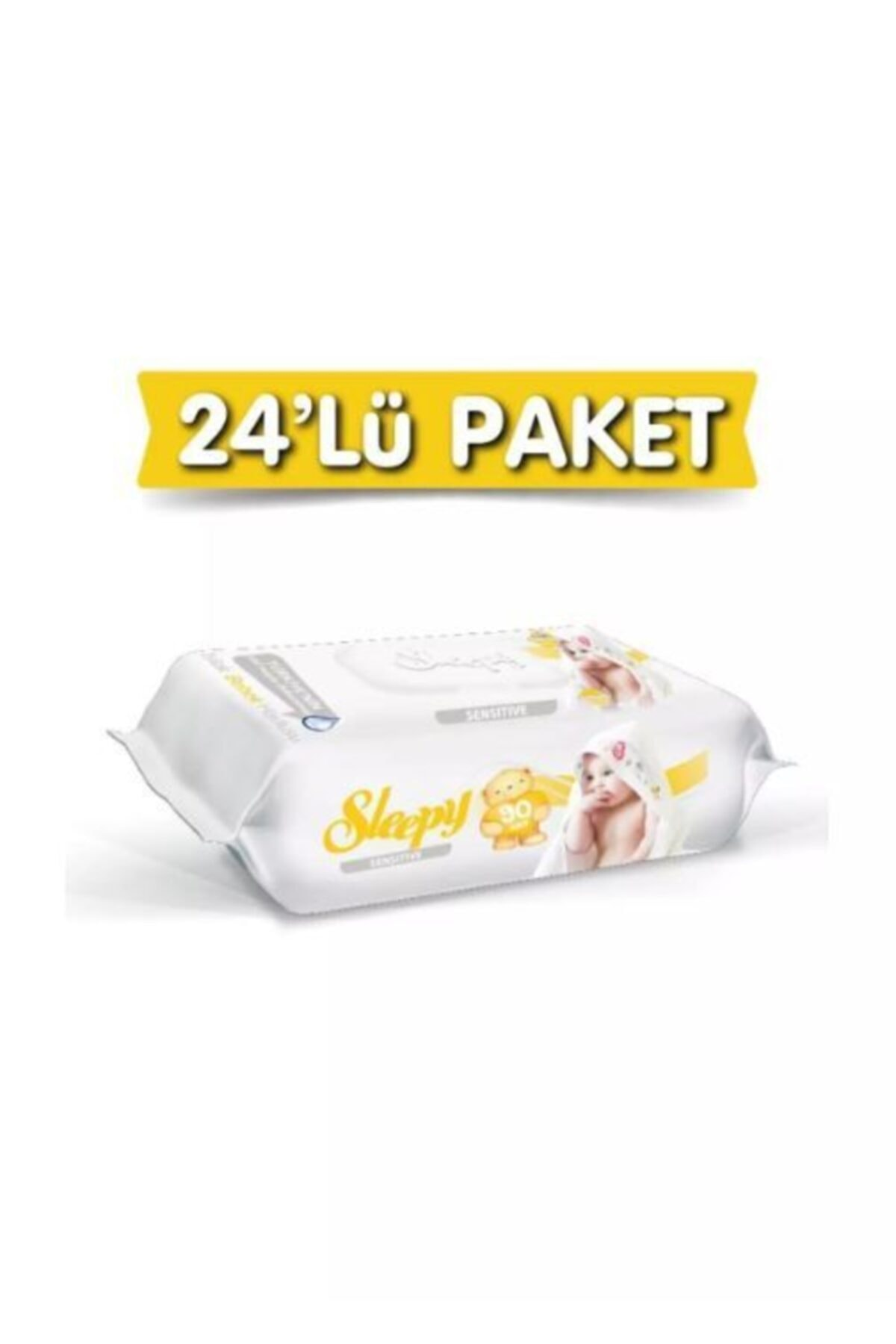 Sleepy Islak Mendil 90 Lı Sensitive 24 Lü Paket 2160 Yaprak 1
