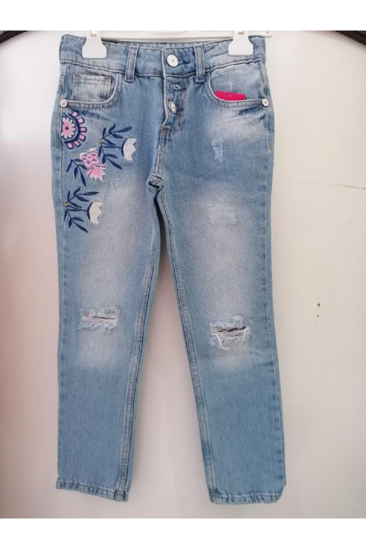Wonder Kıds Kız Çocuk Kot Pantolon 1