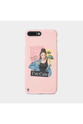 Roxo Case Iphone 7 Plus Baskılı Pembe Lansman Kılıf
