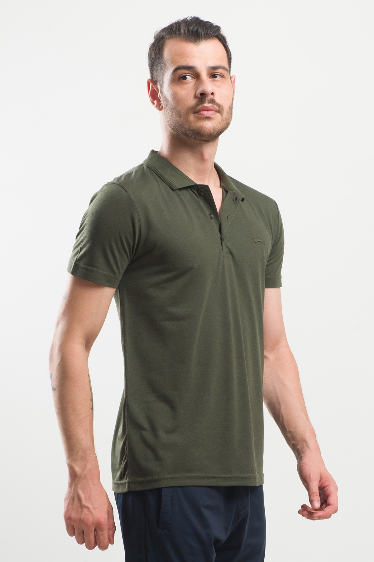 Slazenger Spırıt Erkek T-shirt Haki 2