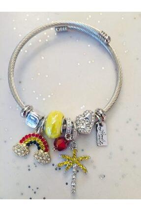 Pandora Kadın Gümüş Gökkuşağı Ve Palmiye   Tarzı Bileklik