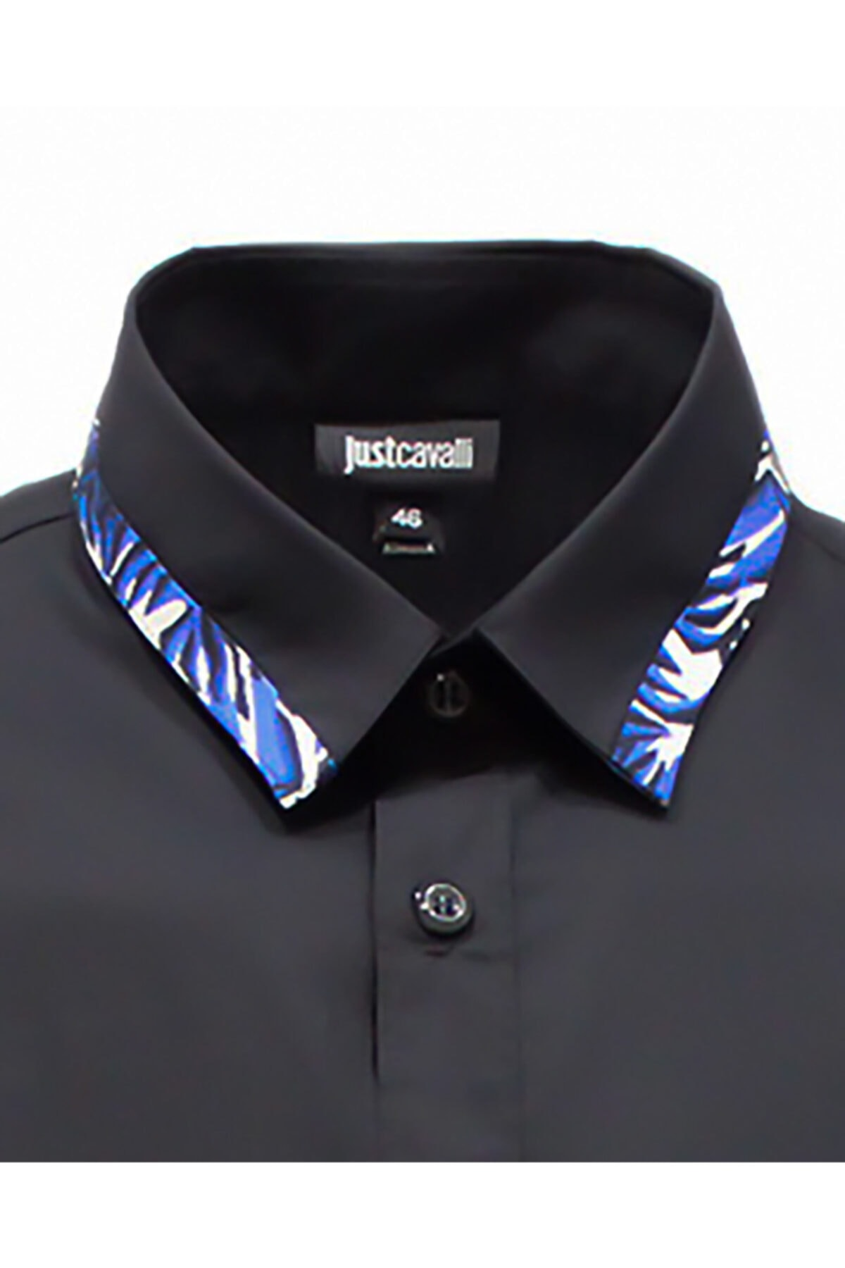 Just Cavalli Erkek Siyah  Cavallı  Desenli Gömlek 2