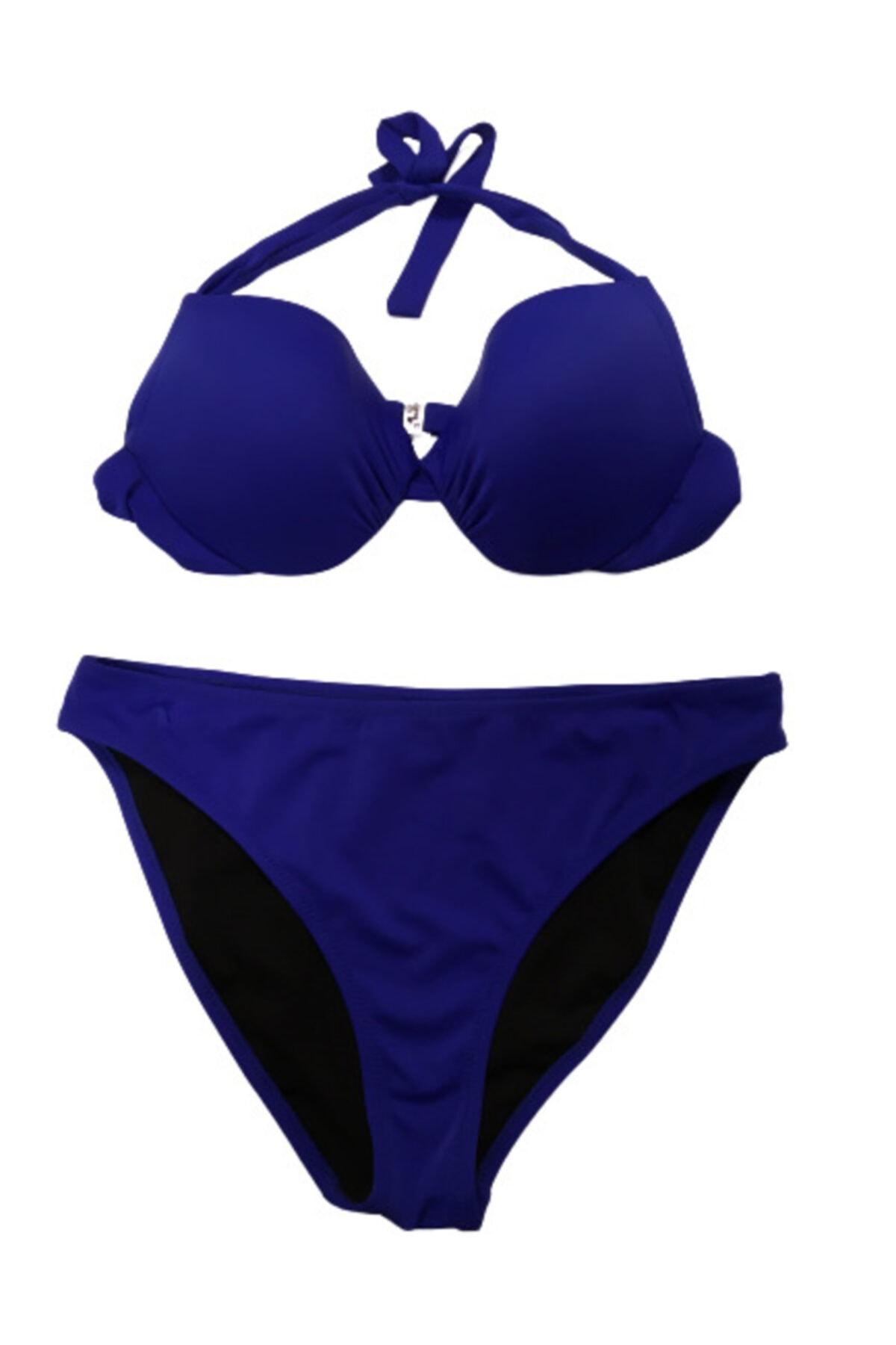 Sunset Sax Mavi Kaplı Bikini 1