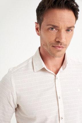 Avva Enine Çizgili Klasik Yaka Slim Fit Gömlek