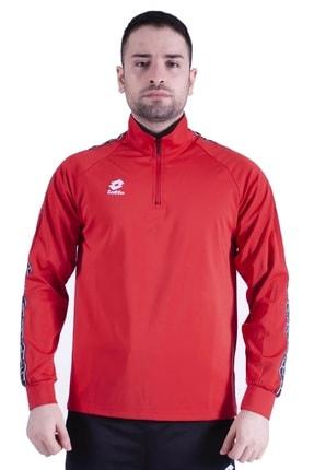 Lotto Antreman Kırmızı Sweatshirt Eşofman Üst
