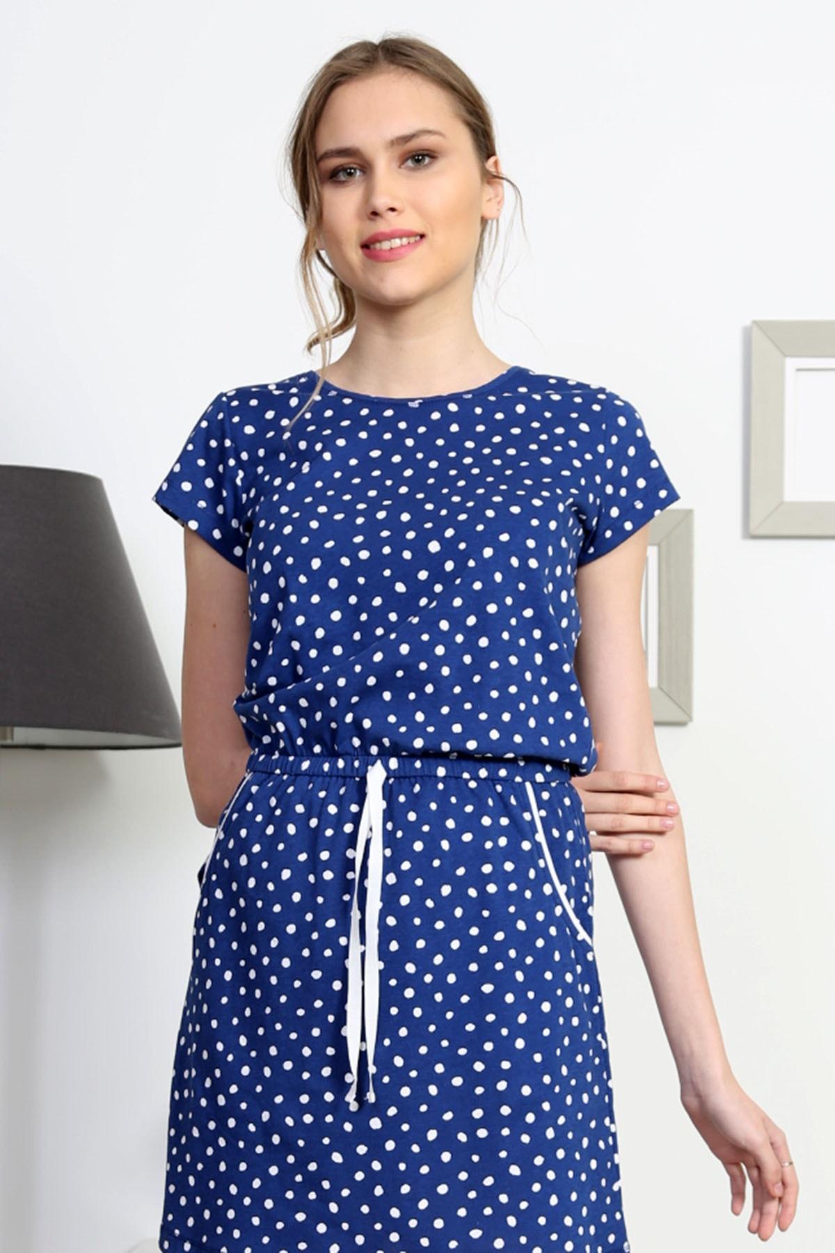 VİENETTA Kadın Lacivert Kısa Kol Elbise 2