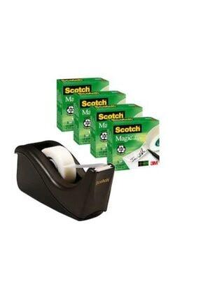 3M Scotch Magic Tape Kesici Bant Seti