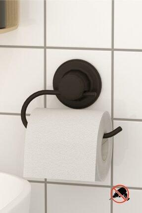 Teknotel Delme Vida Matkap Yok! Vakumlu Tuvalet Kağıtlık Mat Siyah Dm239