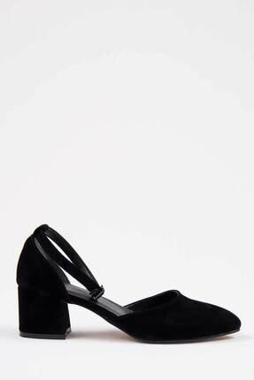 Oioi Siyah Süet Kadın Topuklu Ayakkabı 1006-119-0002_1100