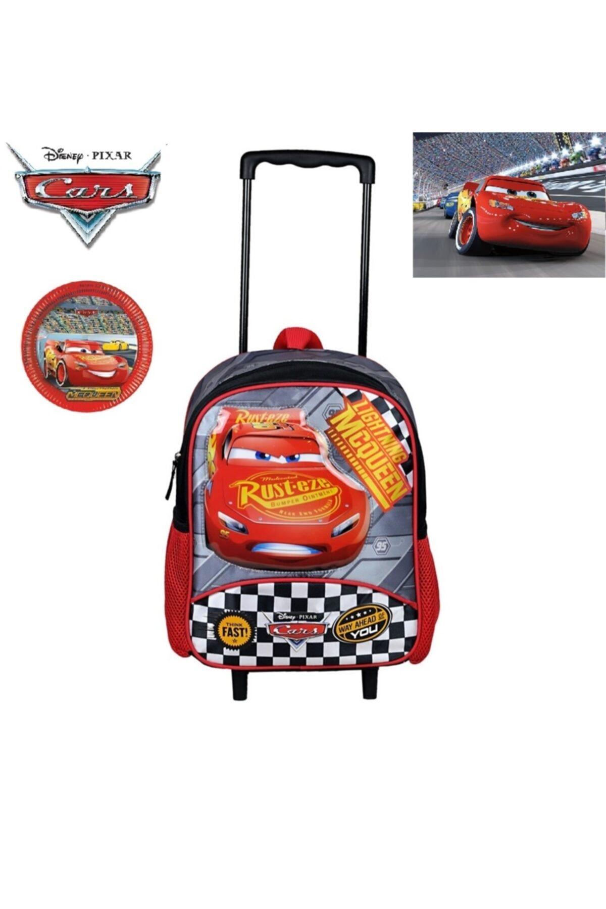 CARS Lisanslı Çekçekli ( Çıkarılabilir Çekçek) Kreş Ana Okulu Ve Günlük Kullanım Çantası 2