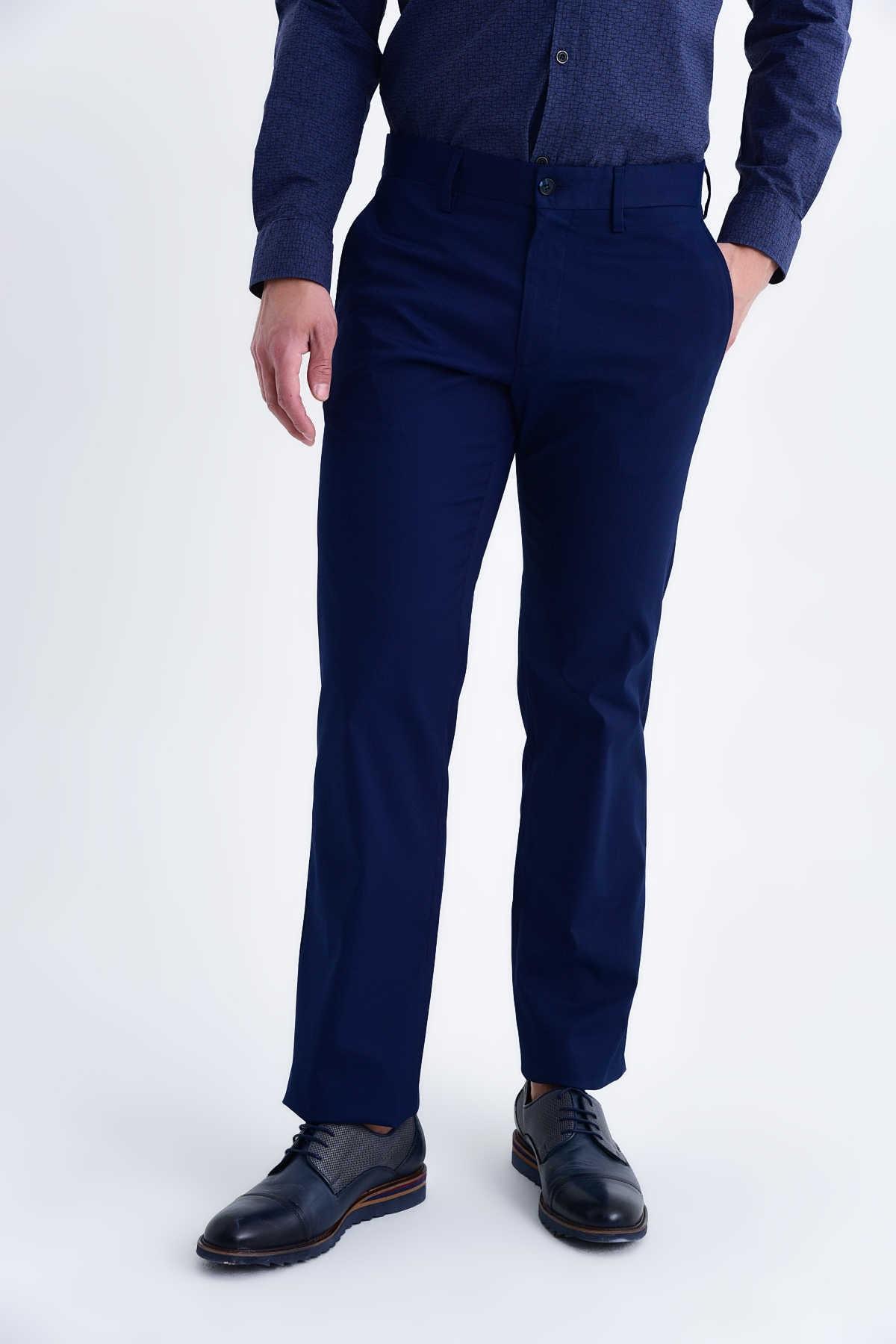 Hatemoğlu Erkek Lacivert Desenli Regular Pantolon 1
