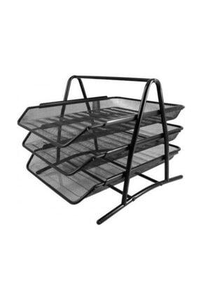 KRAF Perfore Evrak Rafi Metal 3 Katli 460g Siyah
