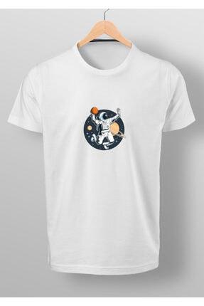 By Okat Basketçi Astronot Baskılı T-shirt