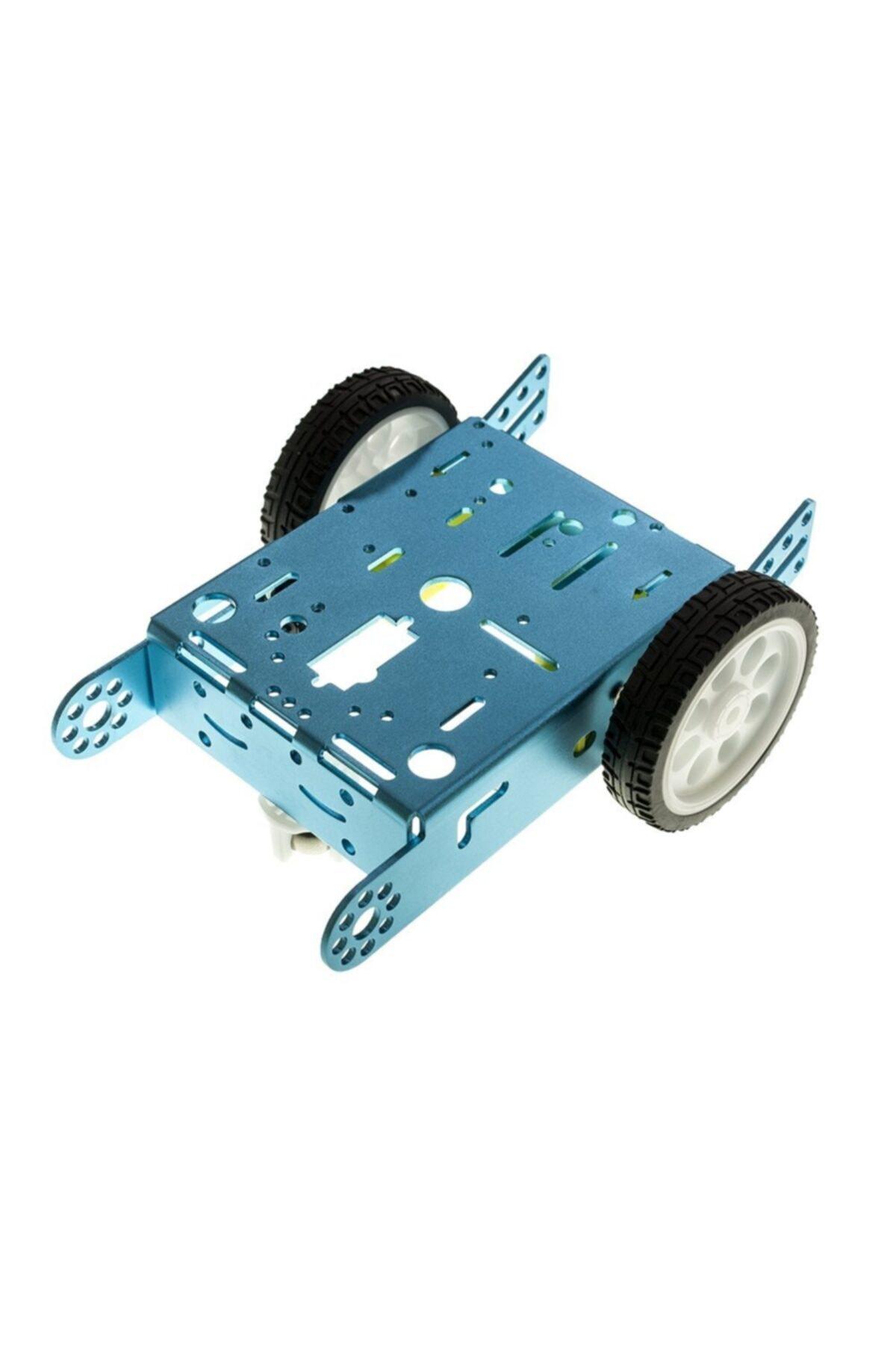 Motorobit 2wd Mbot Alüminyum Araç Kiti - Mavi ( Motor Ve Tekerlek Dahil) 1