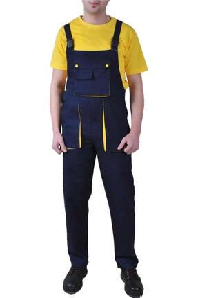 Endüstri Giyim Taraftar Bahçıvan Tulum Sarı-lacivert Askılı Iş Tulum