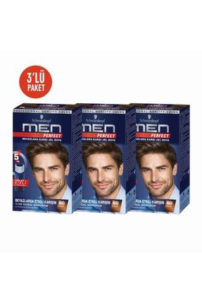 SCHWARZKOPF HAIR MASCARA Men 3lü Kahve Pratik Erkek Saç Boyası 60
