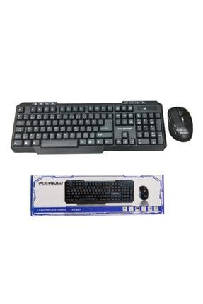 POLYGOLD Teknomarketim Kablosuz Klavye Mouse Seti Q Klavye Wireless 8012 Siyah