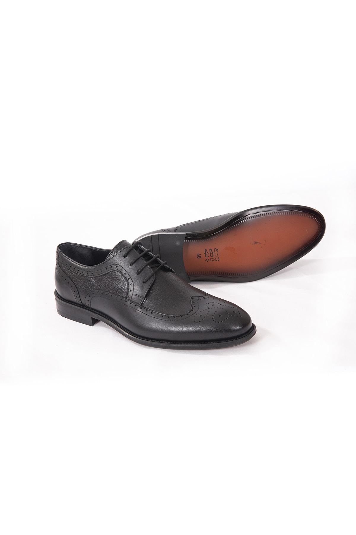 İgs Deri Klasik Erkek Ayakkabı Siyah (i20s-191180-4 M 1000) 2