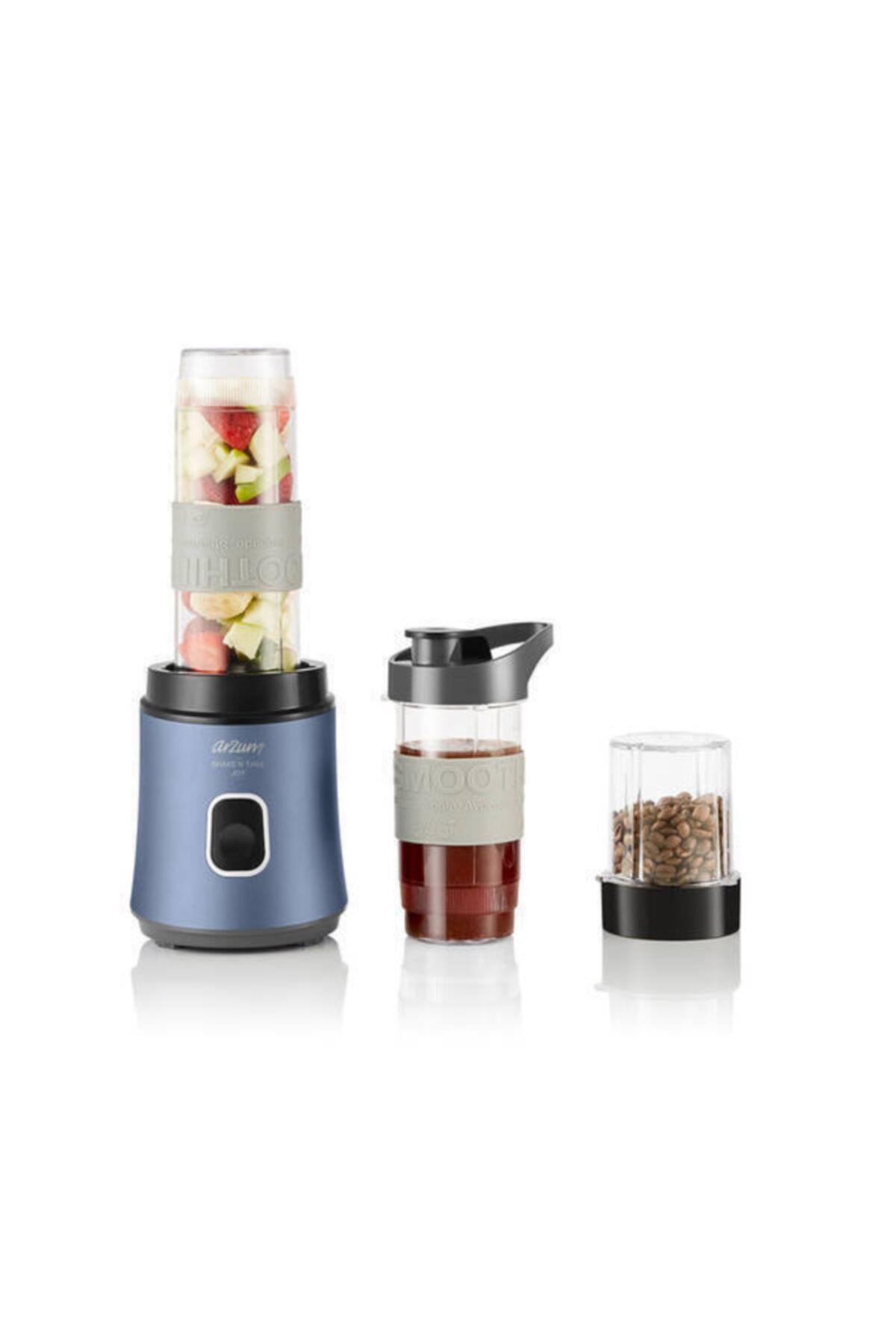 Arzum AR1101-O Shake'n Take Joy Kahve Öğütücülü Kişisel Blender - Okyanus 1