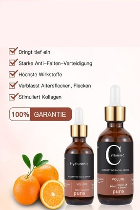 Pure Vitamin C + Hyaluronic Acid Serum