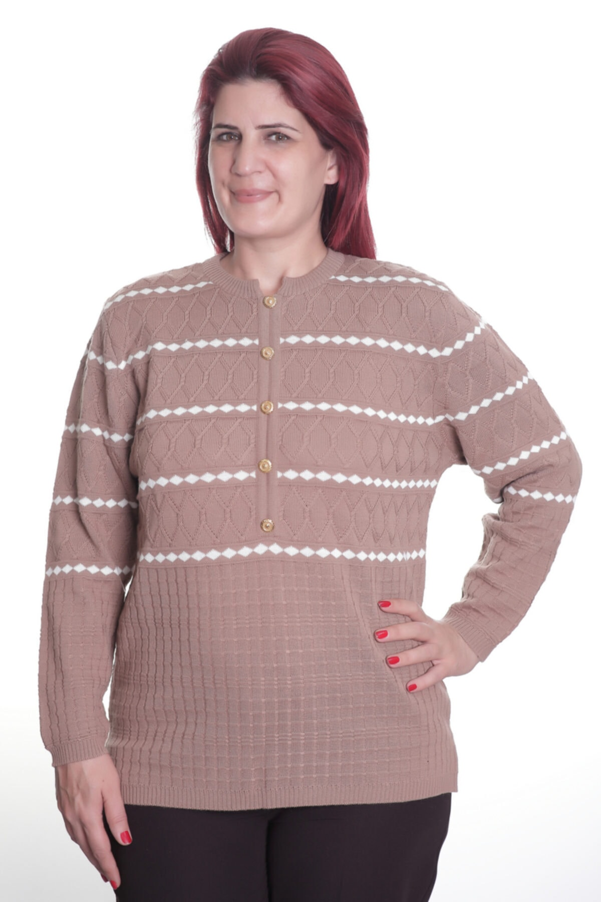 Sude Kadın Kahverengi Mylord Triko Bluz 770 1