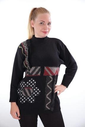 Sude Kadın Siyah Triko Kazak 9514