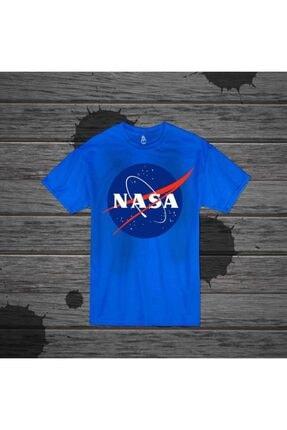 Panda Unisex Mavi Nasa Baskılı T-shirt